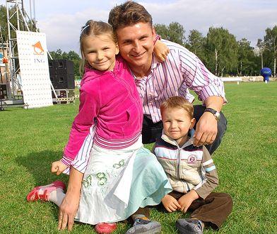 Marek Citko z Weroniką i Konradem. Synowi lekarze nie dawali dużych szans na życie
