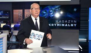 """Michał Fajbusiewicz, prowadzący """"Magazyn kryminalny 997"""""""