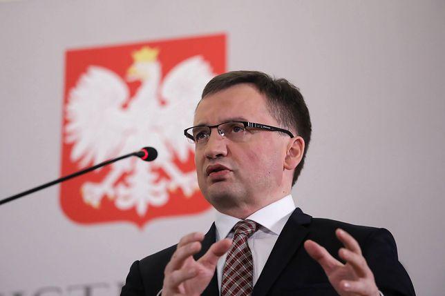 Minister Zbigniew Ziobro zwołał konferencje prasową