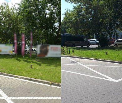 Warszawa. ZDM usuwa nielegalne reklamy (fot. Zarząd Dróg Miejskich)