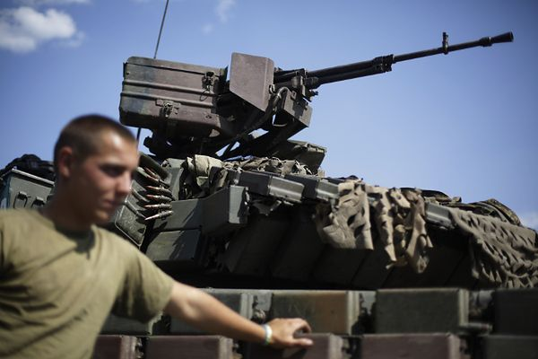 Posterunek ukraińskich wojsk