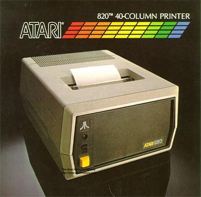 Drukarka Atari 820.