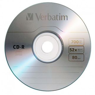 Popularny i teraz CD-R 700 MB. Renomowanej firmy Verbatim