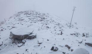 Śnieg wrócił do Polski. Kasprowy Wierch pod białym puchem
