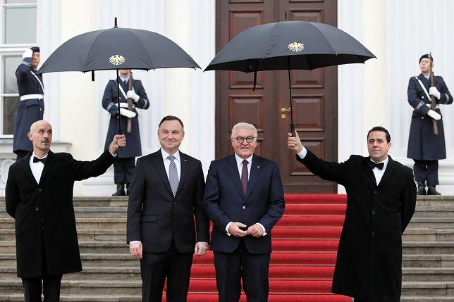 Berlin. Prezydent RP Andrzej Duda i Prezydent Republiki Federalnej Niemiec Frank-Walter Steinmeier