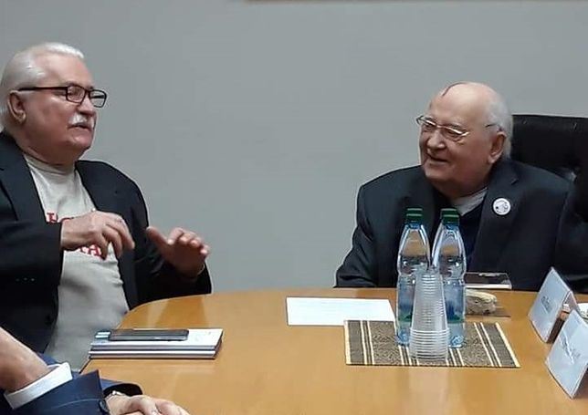 Lech Wałęsa i Michaił Gorbaczow