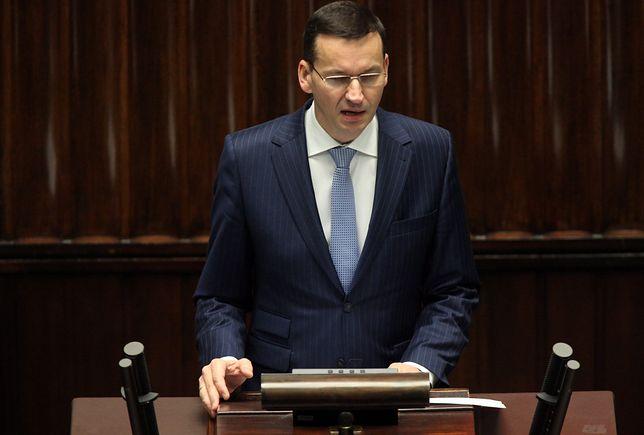 Premier Mateusz Morawiecki w Sejmie. Składa wniosek o wotum zaufania dla swojego rządu