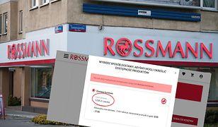 Podczas trwania promocji w Rossmannie w sklepie internetowym można wybrać jedynie dostawę kurierem - za 13 zł.