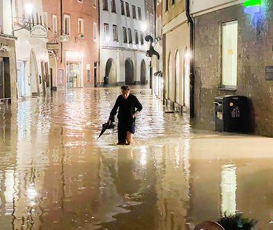 Powodzie w Austrii. Ulice miast jak rwące rzeki