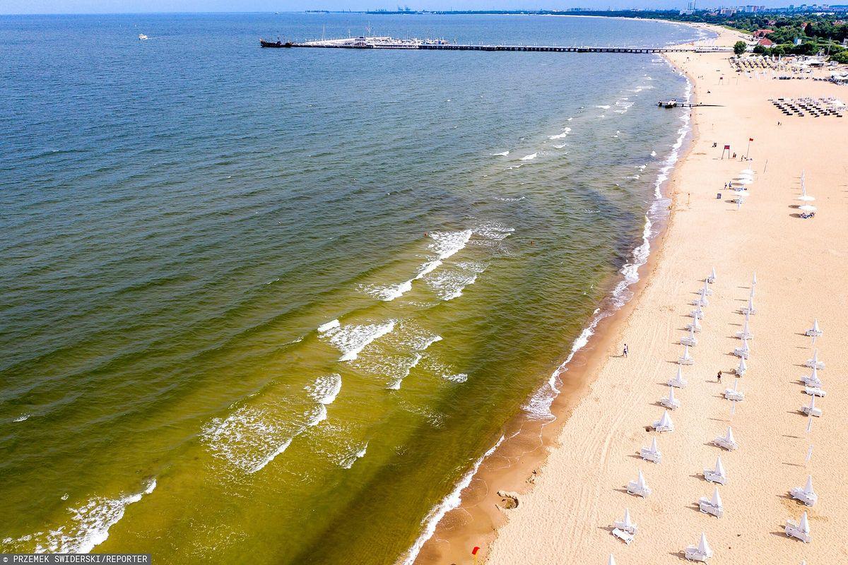 Plaże w Sopocie z powodu sinic są zamykane na kilka dni w sezonie