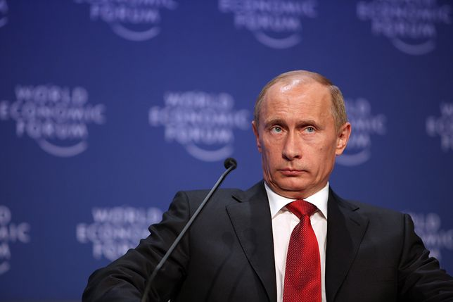 DAVOS-KLOSTERS/SWITZERLAND, 28JAN09 - Vladimir Putin, Prime Minister of the Russian Federation captured during the 'Opening Plenary of the World Economic Forum Annual Meeting 2009' at the Annual Meeting 2009 of the World Economic Forum in Davos, Switzerland, January 28, 2009.Copyright by World Economic Forumswiss-image.ch/Photo by Remy Steinegger