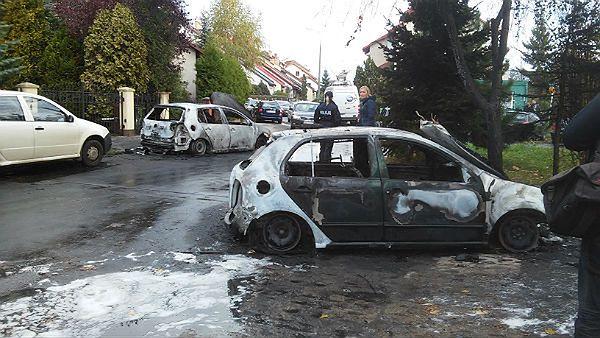 W Gdańsku Morenie podpalono cztery auta
