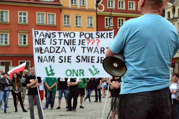 Narodowcy protestowali przeciwko polityce Tuska