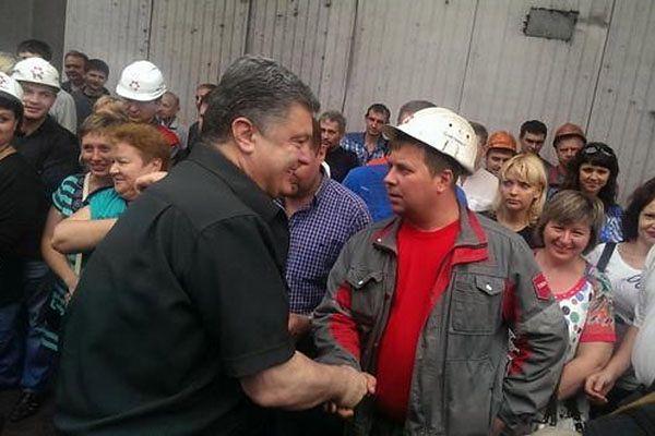 Petro Poroszenko w Mariupolu