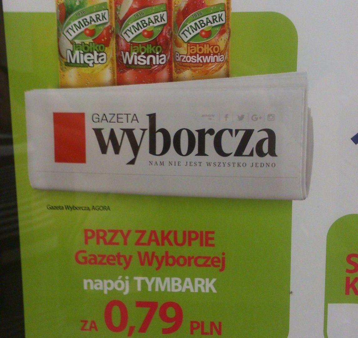 """Bojkot Tymbarku. Bo był w promocji z """"Wyborczą"""""""