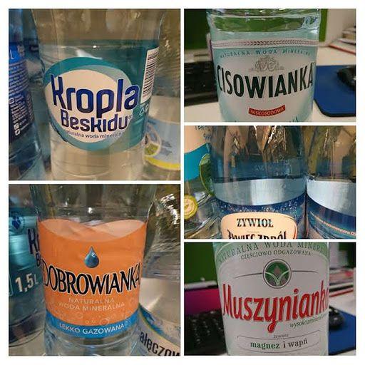 Wybór wód mineralnych i źródlanych jest ogromny