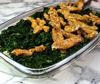Makaron zapiekany z kurczakiem. Rodzinna porcja