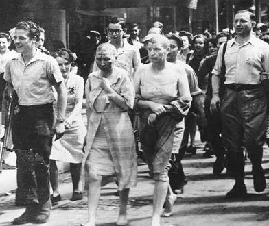 """Francuskie """"brzydkie karnawały"""". Kobietom golono głowy, na czołach rysowano swastyki"""
