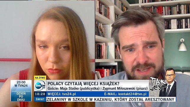Maja Staśko debatowała z Zygmuntem Miłoszewskim o stanie czytelnictwa w Polsce