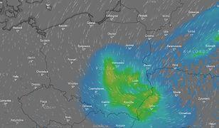 Mapa pokazuje, gdzie należy spodziewać się burz w najbliższy weekend