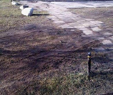 """ZOM zabezpiecza trawniki, ale wygrodzenia są dewastowane. """"Wielu kierowcom brakuje kultury"""" [ZDJĘCIA]"""