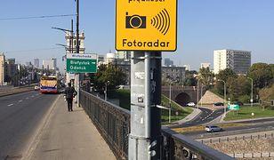 Warszawa. Na moście Poniatowskiego stanęły fotoradary