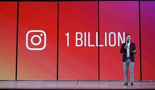 Kevin Systrom, prezes Instagrama, ogłasza miliardowego użytkownika.