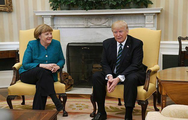 Donald Trump nie chciał podać ręki Angeli Merkel. Mamy nagranie