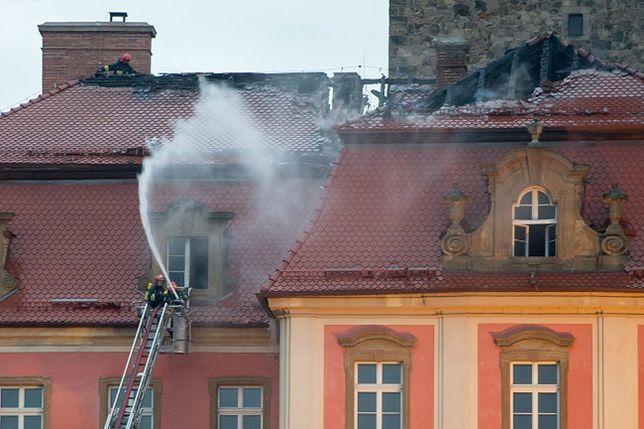 Pożar na zamku Książ