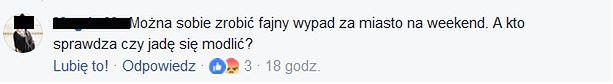 """Screen z fanpage """"Różaniec do granic"""""""