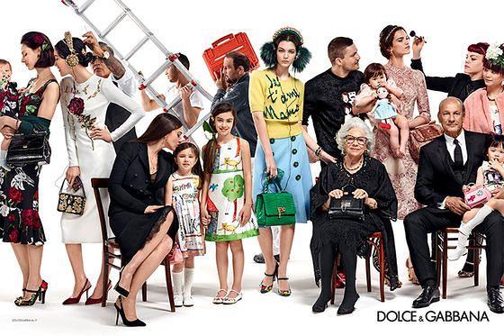 Włoska rodzina w jesienno-zimowej kampanii 2015/2016 Dolce & Gabbana
