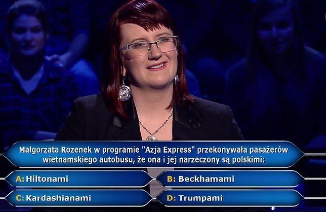 """""""Milionerzy"""" znów rozśmieszyli internautów. Pytanie o Małgorzatę Rozenek i Radosława Majdana hitem odcinka"""