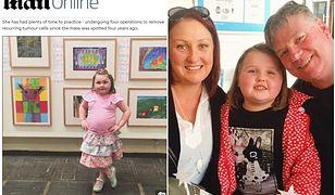 6-latka ze zdiagnozowanym guzem mózgu postanowiła zostać malarką. I to pomimo... utraty wzroku!