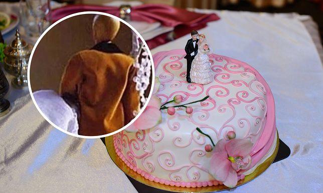 Figurka na torcie weselnym wzbudziła niesmak wśród internautów