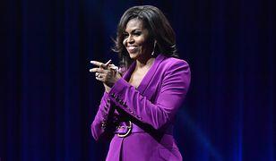 Michelle Obama podczas jednego ze spotkań autorskich