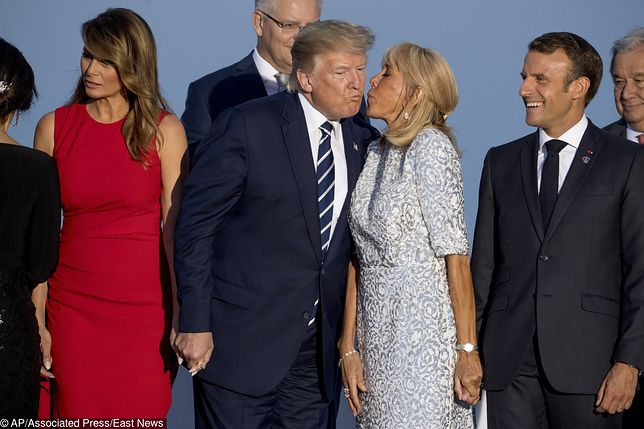Donald Trump i Brigitte Macron na szczycie G7