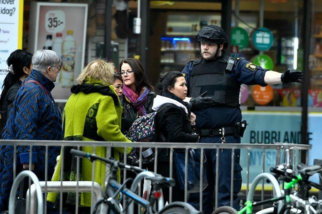Nagranie z kamer jednego ze sklepów podczas zamachu