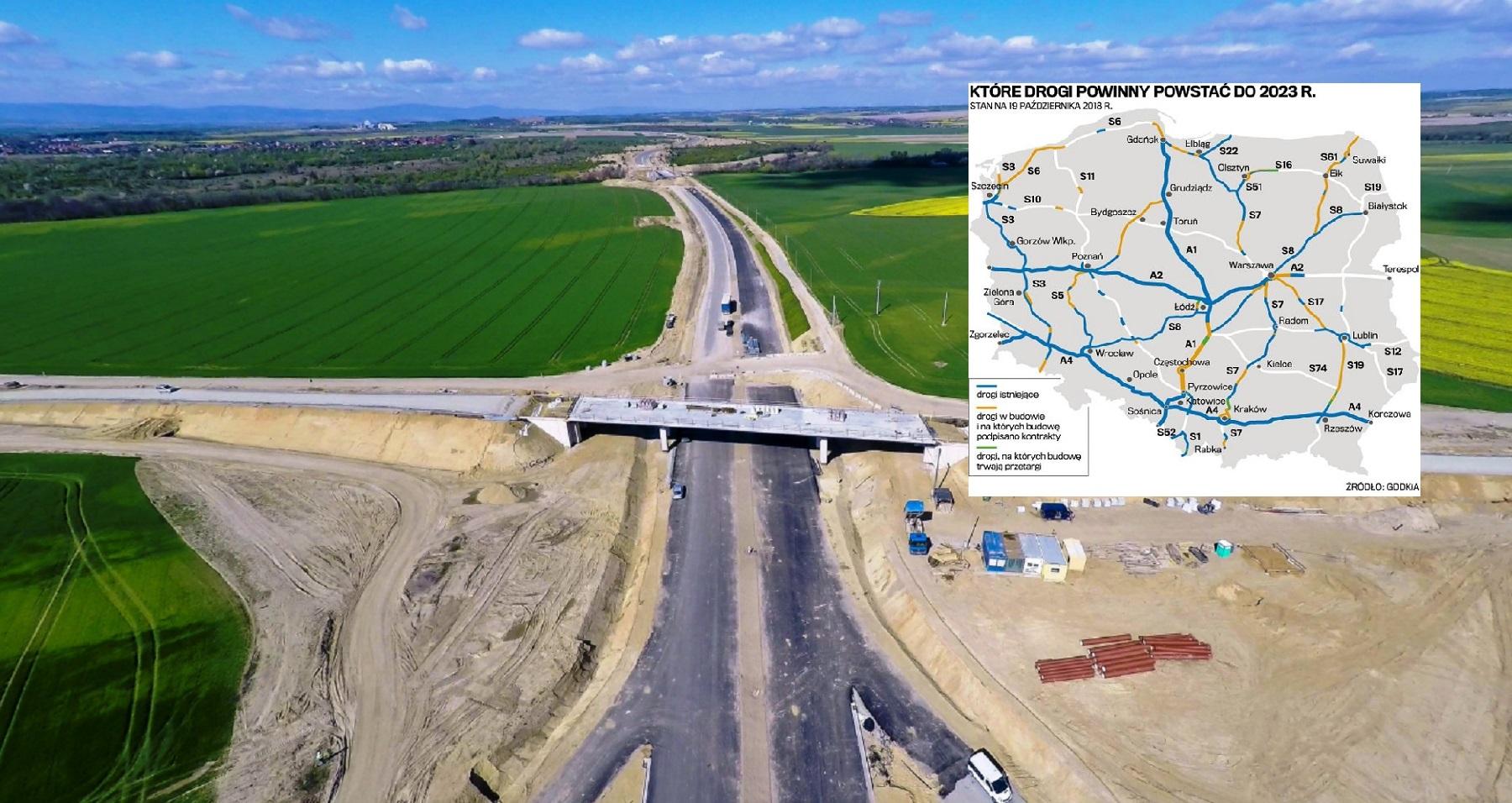 Półmetek rządowego programu budowy dróg. Co powstanie do 2023?