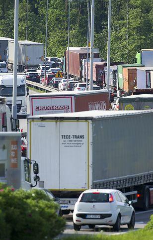 Korek spowodował wzmożony ruch ciężarówek