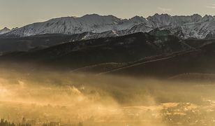 Tak wygląda czyste powietrze pod Tatrami. Na ferie zimowe należy zabrać maskę antysmogową.