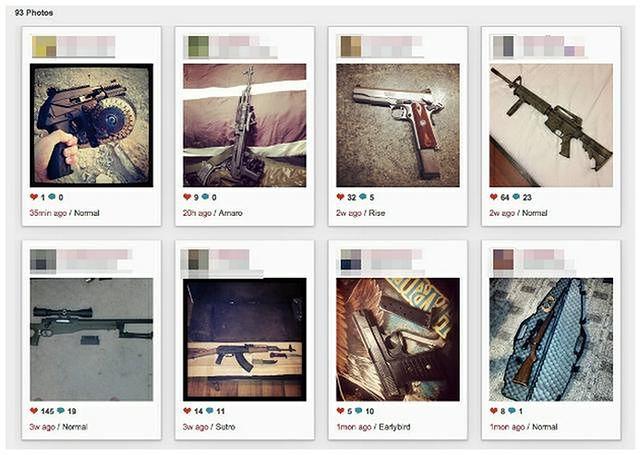 Broń najłatwiej kupić... na Instagramie