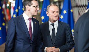 Mateusz Morawiecki i Donald Tusk rozmawiali podczas nieformalnego szczytu UE