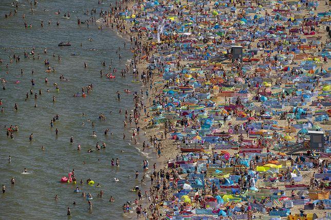 Plaża we Władysławowie 27 lipca 2020 r.