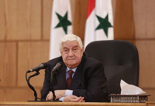 Syryjski minister spraw zagranicznych Walid el-Mualim