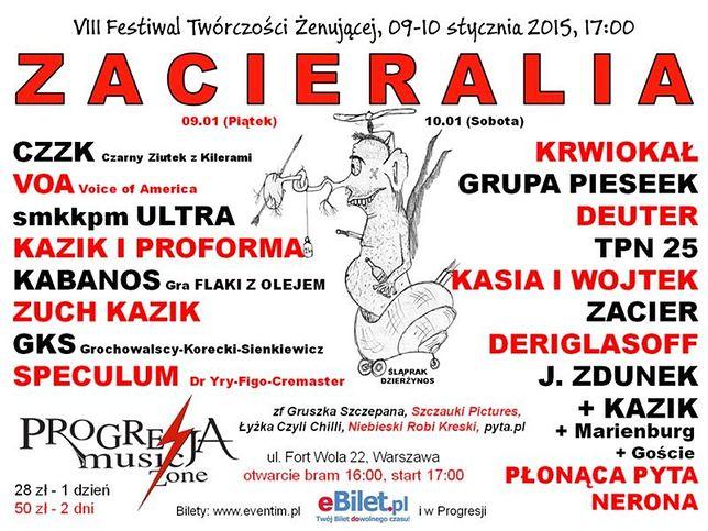 VIII Festiwal Twórczości Żenującej ZACIERALIA 2015