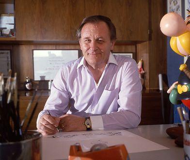 Albert Uderzo przy pracy, 1989 r.