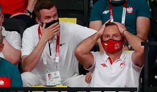 Igrzyska olimpijskie w Tokio. Prezydent Andrzej Duda kibicuje Polakom (z lewej - były minister sportu oraz szef WADA Witold Bańka)