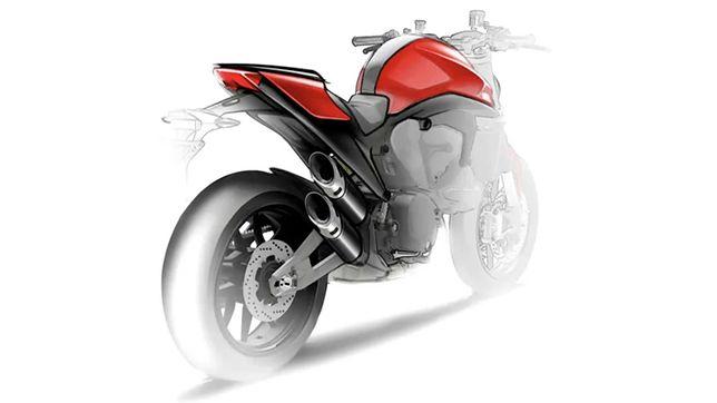 Szkic mający przedstawiać nowe Ducati Monstera.