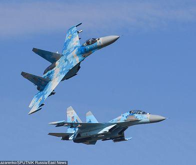 Katastrofa lotnicza na Ukrainie. Myśliwiec runął na ziemię podczas ćwiczeń