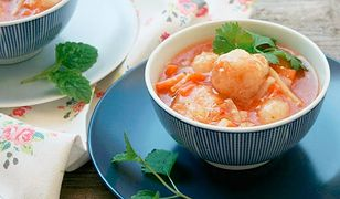 Zupa pomidorowa z pulpecikami z dorsza